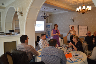 Training for DV investigatior and general patrol officers from 7 municipalities in Peja 3_April 2016 Photo: UN Women/Isabelle Jost