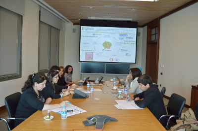 Participants at the meeting with Selin Oz, SME Marketing Senior Manager in charge of Women's Market Programme, Garanti Bank, Women Banking department Photo: Association of Innovative and Technological Entrepreneurship in Tajikistan /Manizha Haitova