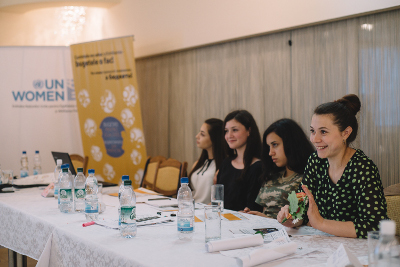"Diana Leahu, a 20-year-old Roma woman from Orhei, a city 48 km north of Moldova's capital Chișinău. Photo: UN Programme ""Women in politics""/ Ramin Mazur"