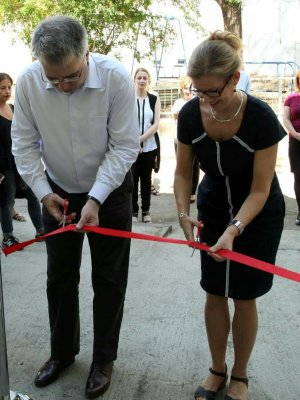 David Sergeenko, Minister of Labour, Health and Social Affairs and Molly Lien, Head of Swedish Development Cooperation ; Crisis center opening ceremony; Photo: MoLHSA - See more at: http://georgia.unwomen.org/en/news/stories/2016/09/the-frist-crisis-center-for-the-victims-of-domestic-violence-has-been-opened-in-tbilisi#sthash.h61o7Ad6.dpuf