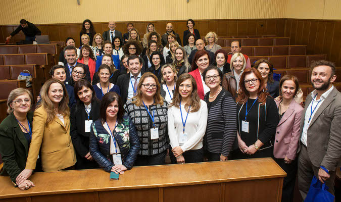 Group photo in the Serbian parliament. Photo by Igor Pavicevic.