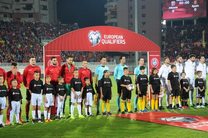 During the World Cup Qualifiers match between Albania Vs. Spain, HeForShe solidarity movement was echoed amid thousands of football fans in 'Selman Stermasi' Stadium – Shkoder.
