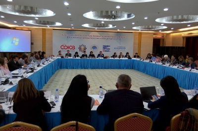 Attendees of Forum of Crisis Centres discussed funding issues. Photo: Ainagul Bekebayeva