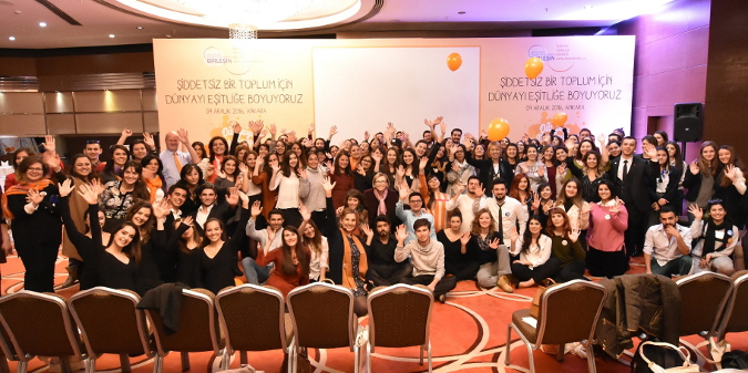 More than 100 students from Ankara universities attended the youth summit. Photo Credit: UN Women