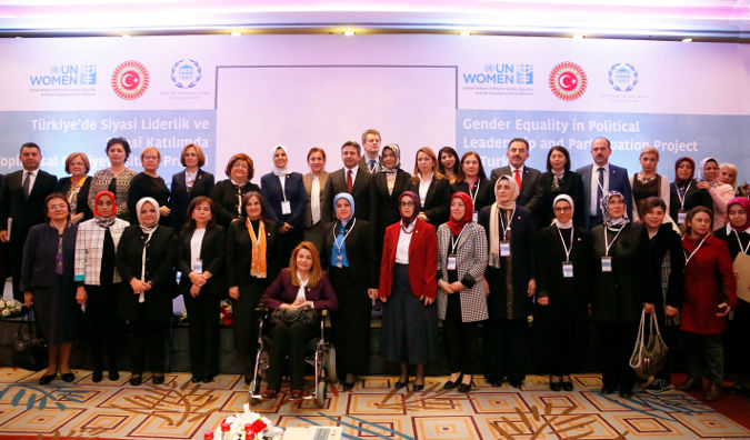 The launch of the Gender Equality in Political Leadership and Participation in Turkey Project . Photo: UN Women