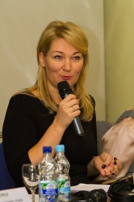 Ms. Mariia Ionova, co-chair of the Parliamentary Inter-Faction Union for Equal Opportunities UN Women/Alexander Alfyorov