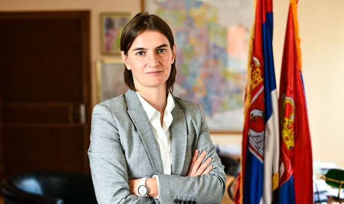 Ana Brnabic, PM of Serbia. Photo: Ministry of Public Administration and Local Self-Government
