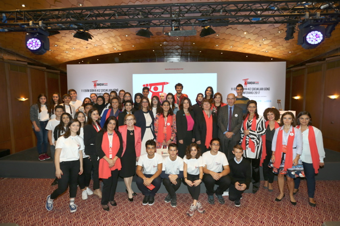 Participants of the International girl Child Day Conference in Turkey. Photo: Aydin Dogan Foundation