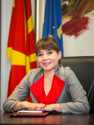 Mila Carovska, Minister of Labour and Social Policy for the former Yugoslav Republic of Macedonia