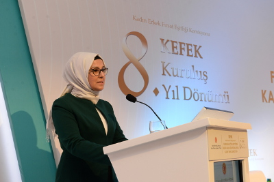 Radiye Sezer Katırcıoğlu, Chairperson of the Committee on Equality of Opportunity for Women and Men of the Turkish Parliament (EOC). Photo: UN Women