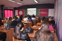 "Students of ""Marin Barleti"" University in Albania discuss elimination of violence against women and girls"
