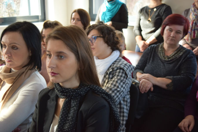 Women activists discuss how to improve access to services for survivors of domestic violence in Bosnia and Herzegovina. Photo: Courtesy of Foundation of Local Democracy