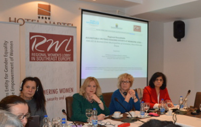 Rouontable on Peace building efforts at local level in Pristina. Photo: RWLSEE /Arberesha Dedinja
