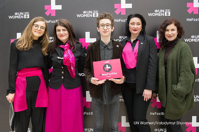 Press Release: Ukraine joins the HeForShe solidarity movement for gender equality