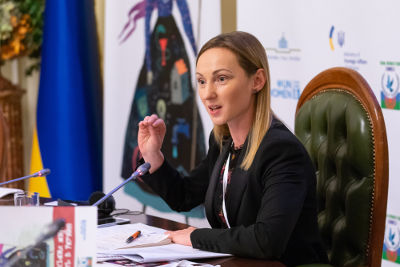 Member of Parliament of Ukraine Iryna Suslova. Photo: UN Women/Roman Shalamov