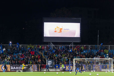 Kosovo Football Federation joining the 16 Days of Activism Campaign. Photo: UN Kosovo team