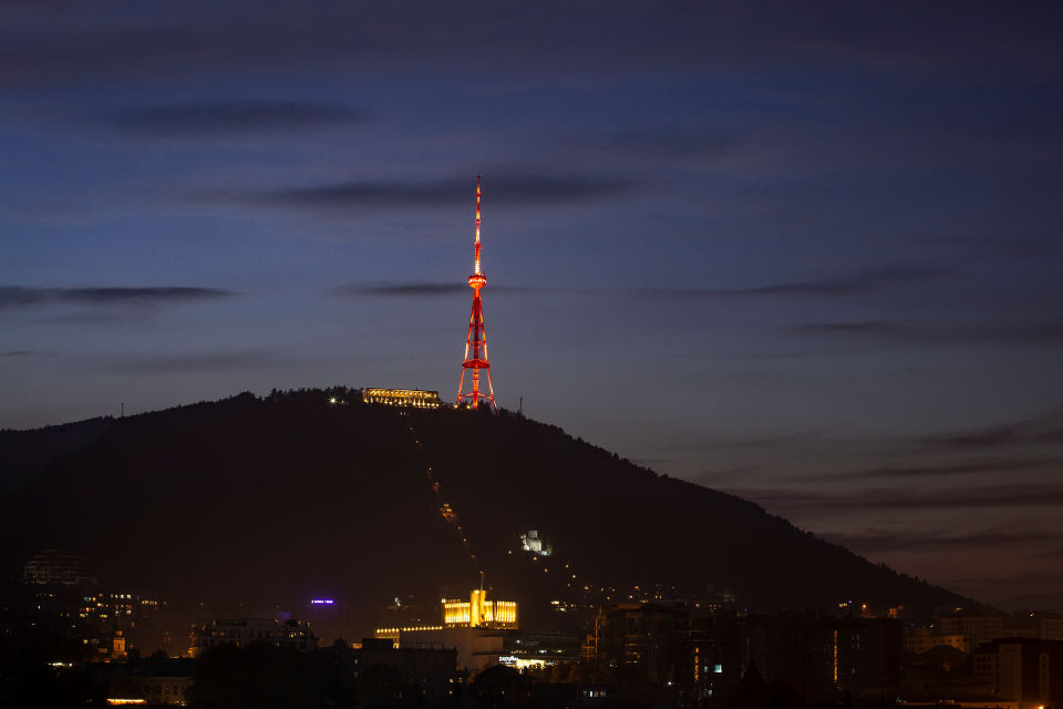 The iconic TV Tower of the capital Tbilisi, Georgia. Photo: UN Women/David Tabagari