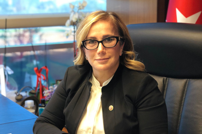 anan Kalsin, the Chairperson of The Committee on Equality of Opportunity for Women and Men (EOC) in the Turkish Parliament. Photo: UN Women/Ebru Özdayı Demirel