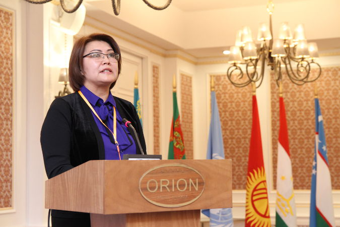 Altynai Omurbekova is the Vice Prime Minister on social affairs in the Kyrgyz Republic and a former Member of Parliament. Photo: Nurshat Ababakirov/UN in Kyrgyzstan