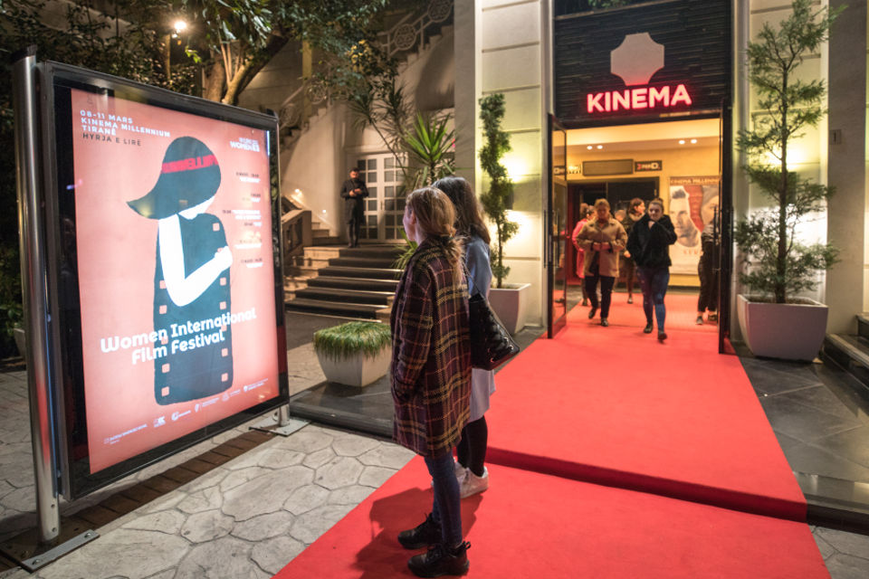 Participants at the opening of the Women International Film Festival in Albania. Photo credit: Olsi Beçi/ UN Women Albania