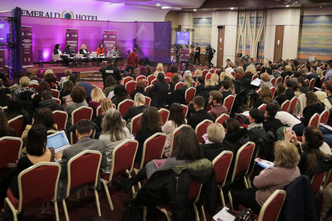 Panel discussion on why women's presence at the negotiation table matters. Photo: United Nations in Kosovo