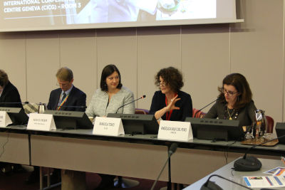 Manuela Tomei, Director of the ILO's WorkQuality Department, co-moderated the side event. Photo: UN Women/Gizem Yarbil Gurol