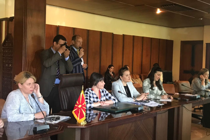 The North Macedonian delegation and UN Women representatives at the Ministry of Water in Rabat, Morocco. Photo: UN Women