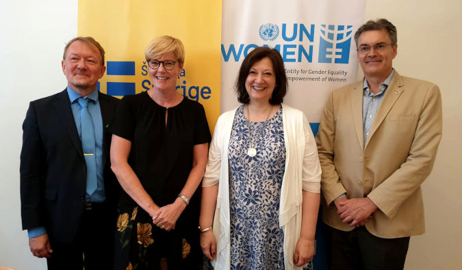 Sweden and UN Women in Bosnia and Herzegovina confirm their continued partnership. Photo: The Embassy of Sweden in Bosnia and Herzegovina/Abela Purivatra