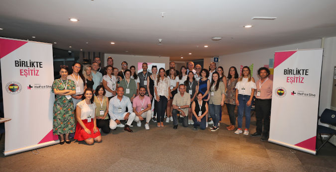 Participants of the training of trainers for Gender Awareness Raising Seminars. Photo: Fenerbahçe Sports Club