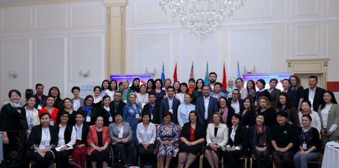 Participants of Beijing+25 sub-regional consultation for Europe and Central Asia. Photo: UN Women/Marlis Esenakunov