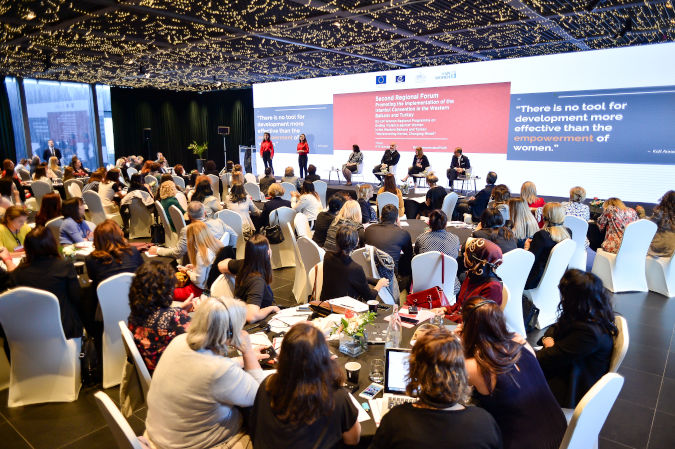 Second Regional Forum: Promoting the implementation of the Istanbul Convention in the Western Balkans and Turkey. Photo: UN Women/Eduard Pagria