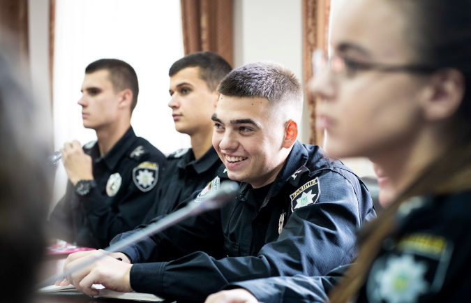 Students of the National Academy of Internal Affairs. Photo: UN Women/Sergey Korovaynyi