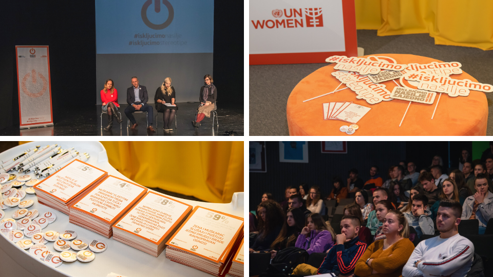 16 Days campaign in Bosnia and Herzegovina was launched in Banja Luka, with a series of lectures. Photo: UN Women/Dusko Babic
