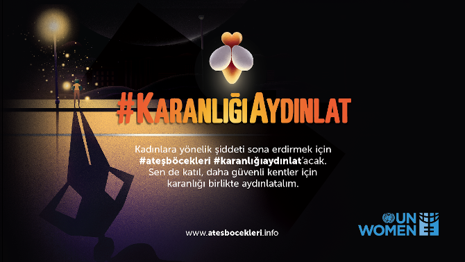 Light the Dark is a national campaign to draw attention to safety of women and girls in public spaces in Turkey.