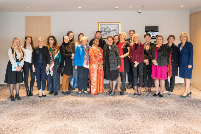 ED Phumzile Mlambo-Ngcuka met with female politicians from all over Bosnia and Herzegovina to discuss the challenges for women's political participation. Photo: UN Women/Adnan Bubalo