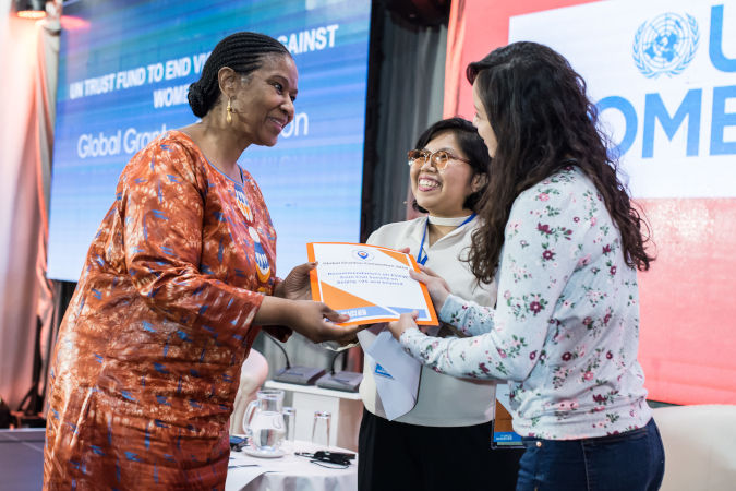 A set of recommendations were presented to the UN Women Executive Director by the two youngest grantees of the Convention. UN Women/Sulejman Omerbasic