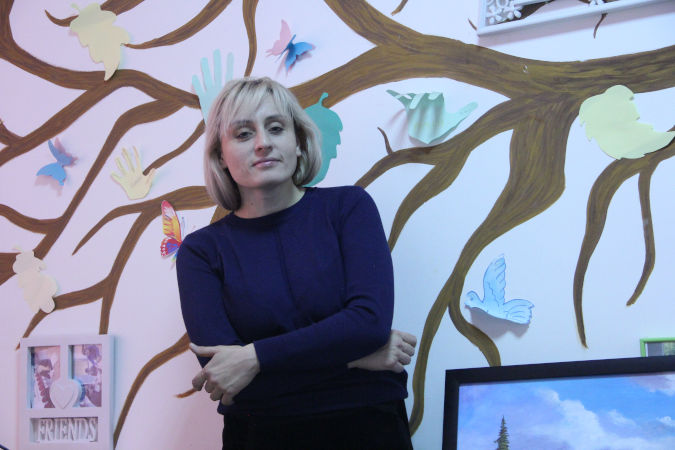 Anna Ryl is the  head of the anti-trafficking foundation, Korgau Astana, in Kazakhstan. Photo: Karina Amralina/UN Women