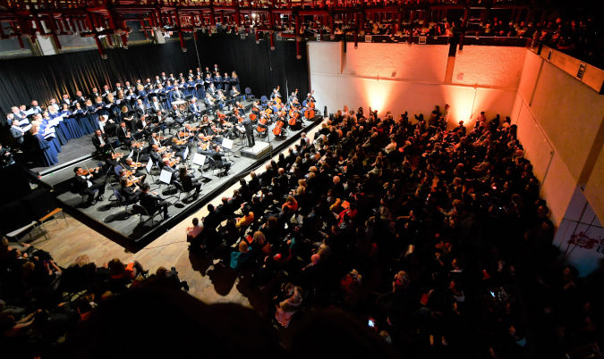 Kosovo Philharmonic joined the 16 Days of Activism campaign dedicating their performance to victims of conflict-related sexual violence. Photo: UN Women Kosovo