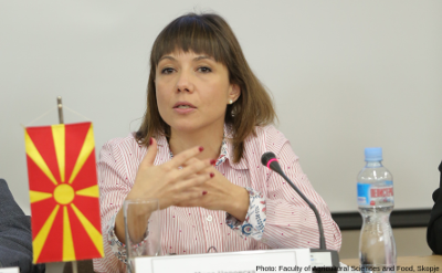Mila Carovska, Minister of Labor and Social Policy. Photo: Photo credits: Faculty of Agricultural Sciences and Food, Skopje