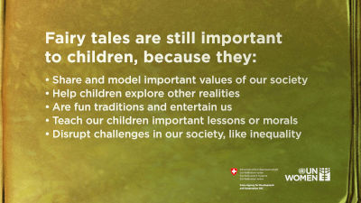 Fairy tales allow kids to escape from reality, but they can also have a strong educational power informing girls and boys on gender equality and feminism.