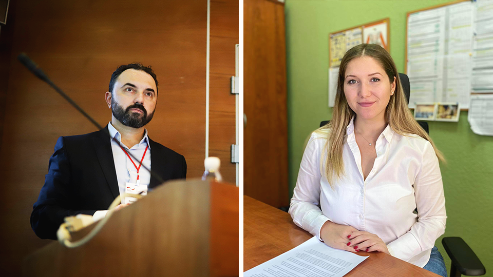 From left to right: Boran Ivanoski, Project Manager, NALAS Secretariat in North Macedonia; Semra Amet, Project Officer, NALAS Secretariat in North Macedonia. Photo: Personal archives