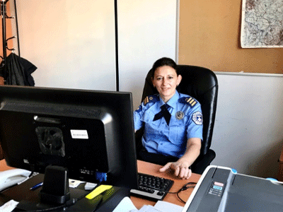 Sergeant Xhemile Behluli is the Domestic Violence Section supervisor for the Kosovo Police. Photo: UN Women