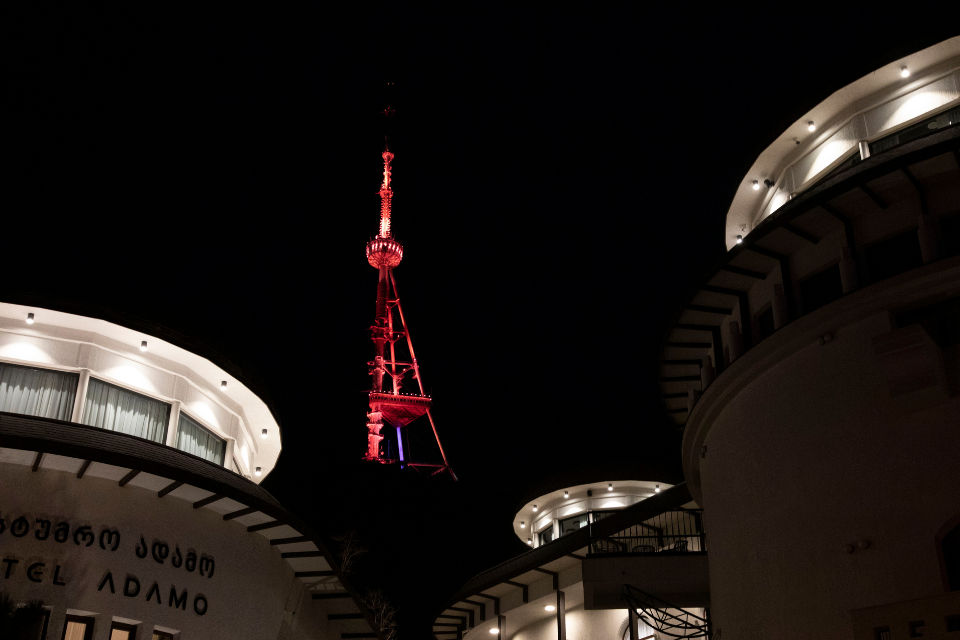 The TV Tower of the capital city Tbilisi. Photo: UN Women/Leli Blagonravova