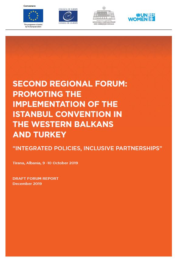 Report: Second Reginal Forum Promoting the Implementation of the Istanbul Convention in the Western Balkans and Turkey
