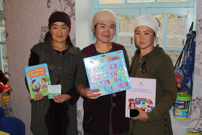 Women from SHG in Koktash village, Aksay municiaplity running child care center. Photo:UN Women/Kiyal Tilebdaldiva