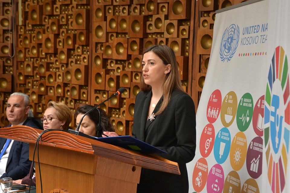 "Albulena Haxhiu, Minister of Justice in Kosovo, stated ""We must work together to change this patriarchal mentality which is impeding the development of our society."""