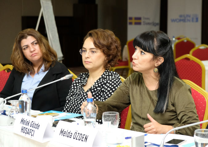 Women councilors from different political parties came together at the local gender equality workshops. Photo: UN Women Turkey