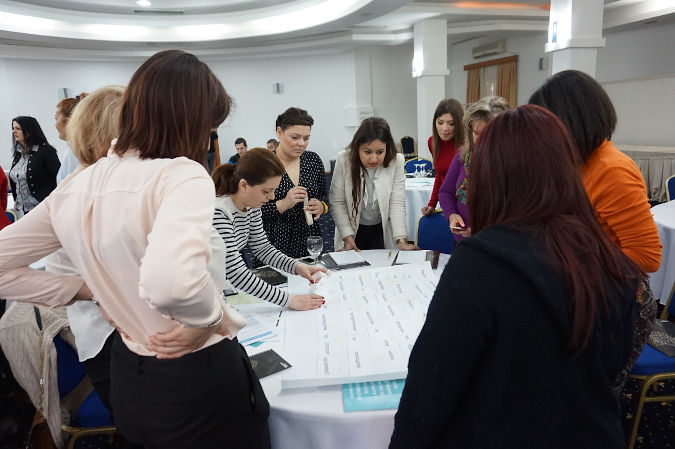 Local councilors and members of intersectoral working groups on gender equality of Municipalities of Kisela Voda and Strumica attend a 2-day training on gender-responsive budgeting. Photo: UN Women North Macedonia