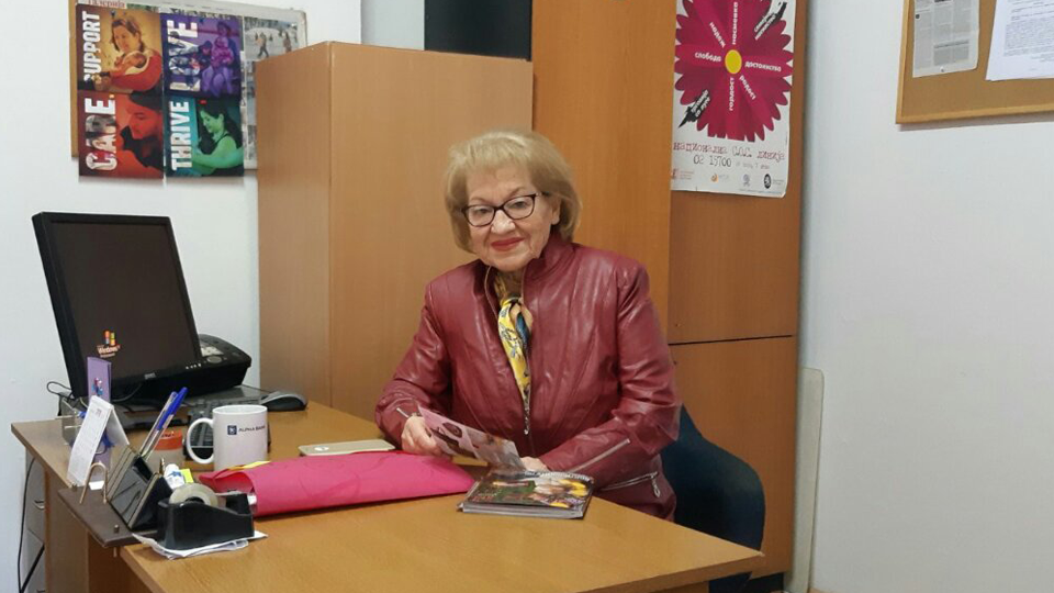 Tomka Dilevska, President, Women of the City of Skopje, North Macedonia. Photo: Curtesy of Tomka Dilevska