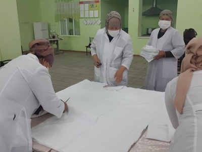In Kyrgyzstan, women banded together to address the shortage of masks, sanitizers and other individual protection products.